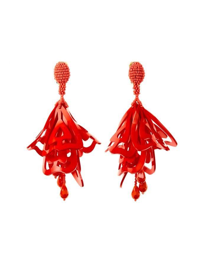 Oscar De La Renta Cayenne large clip-on earrings k8DEs4MAo
