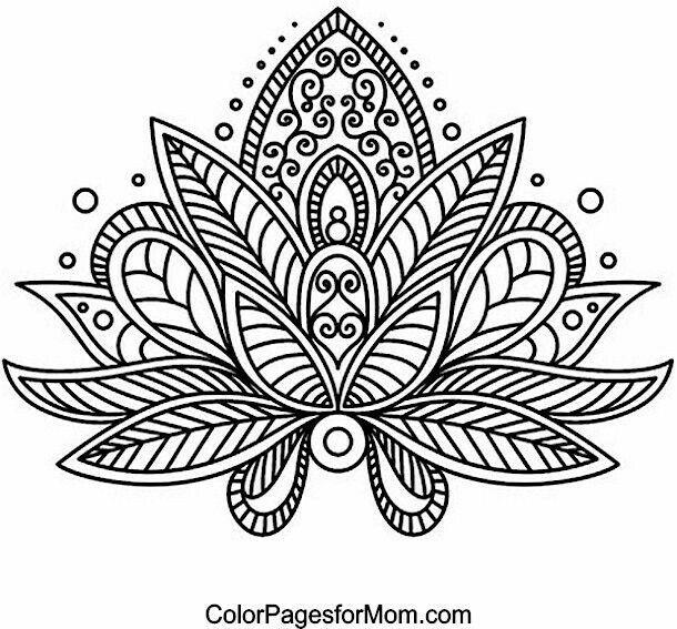 Lotus Flower Mandala Coloring Pages