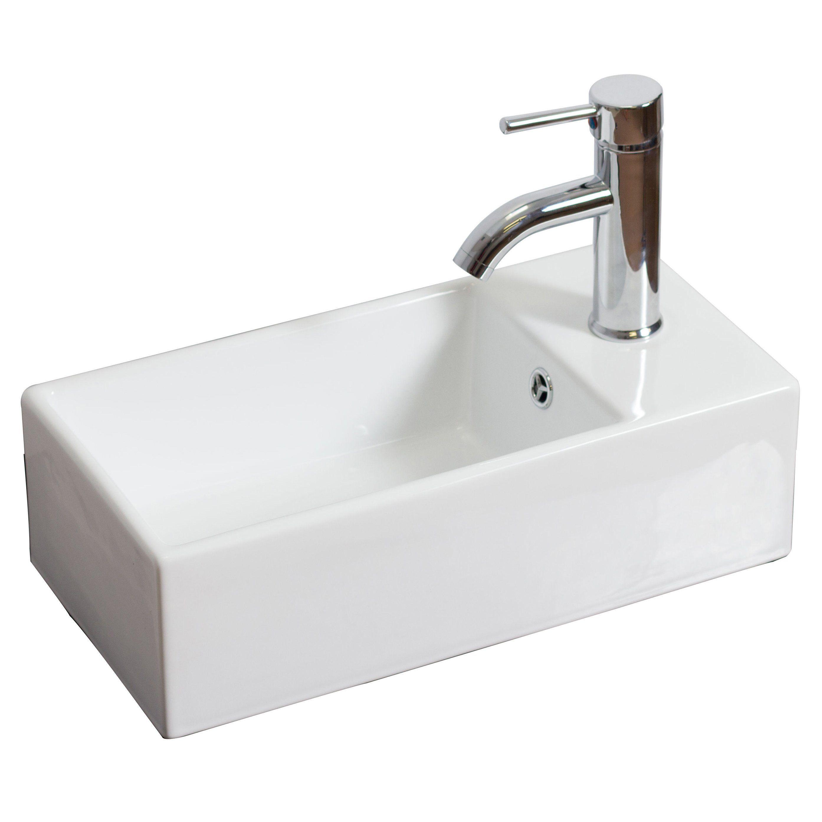 American imaginations rectangle vessel bathroom sink 1185