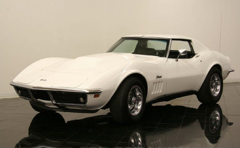 1969 corvette stingray i just love them in white - Corvette Stingray 1969 White