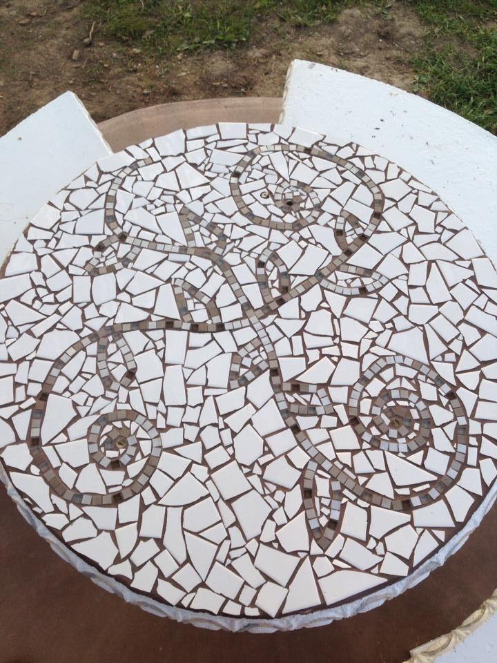Mosaic Concrete Table Top