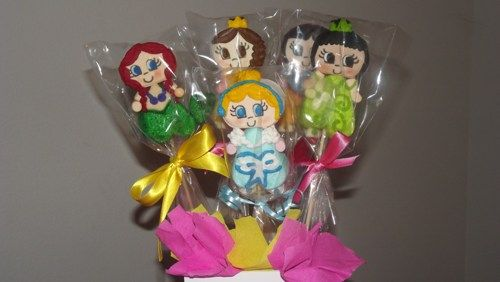 princess marshmallow pops edible party favors SAVE NOW TILL FEBRUARY    sprinkledwithgrace - Edibles on ArtFire