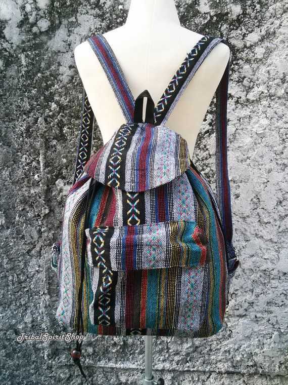 Big Boho Tribal Backpack Aztec Ethnic Hippies Ethnic Hobo Tapestry Bags  Hmong Nepali Rucksack Hipster Native Pattern Purse For School16x18x7 dacb82bcba