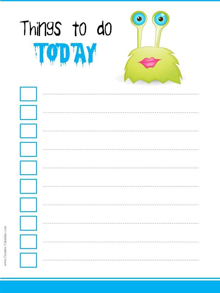 Todo Listg 720960 Daily Planning Pinterest