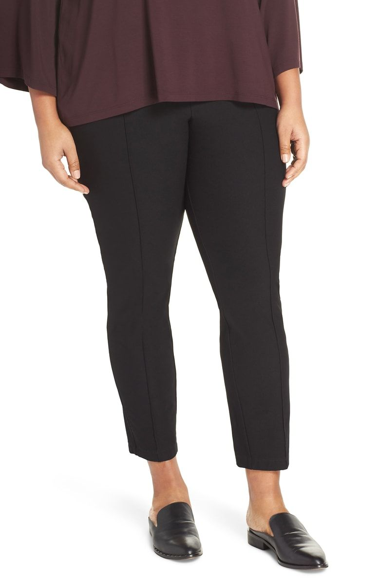 8eedd5d5b30 Free shipping and returns on Eileen Fisher Slim Ankle Pants (Plus Size) at  Nordstrom.com. Staple pants designed for a sleek