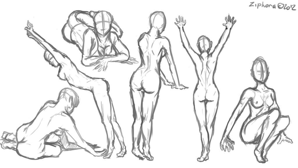 Female Anatomy Sketches 2 by Ziphora on DeviantArt | Drawing ...