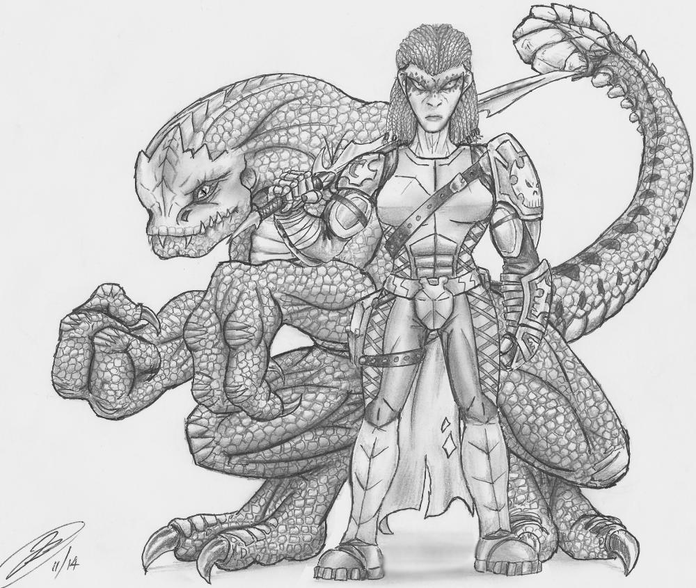 "Hytroc matron and her Sathoy ""pet""."