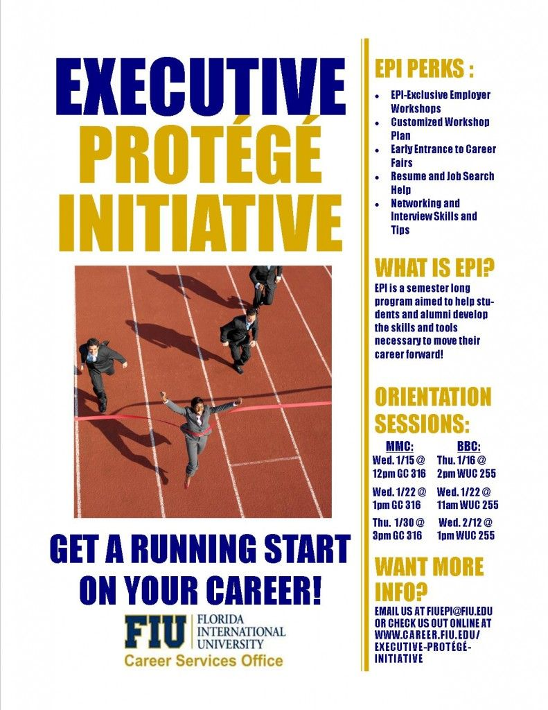 The Executive Protege Initiative At Fiu Career Services Office