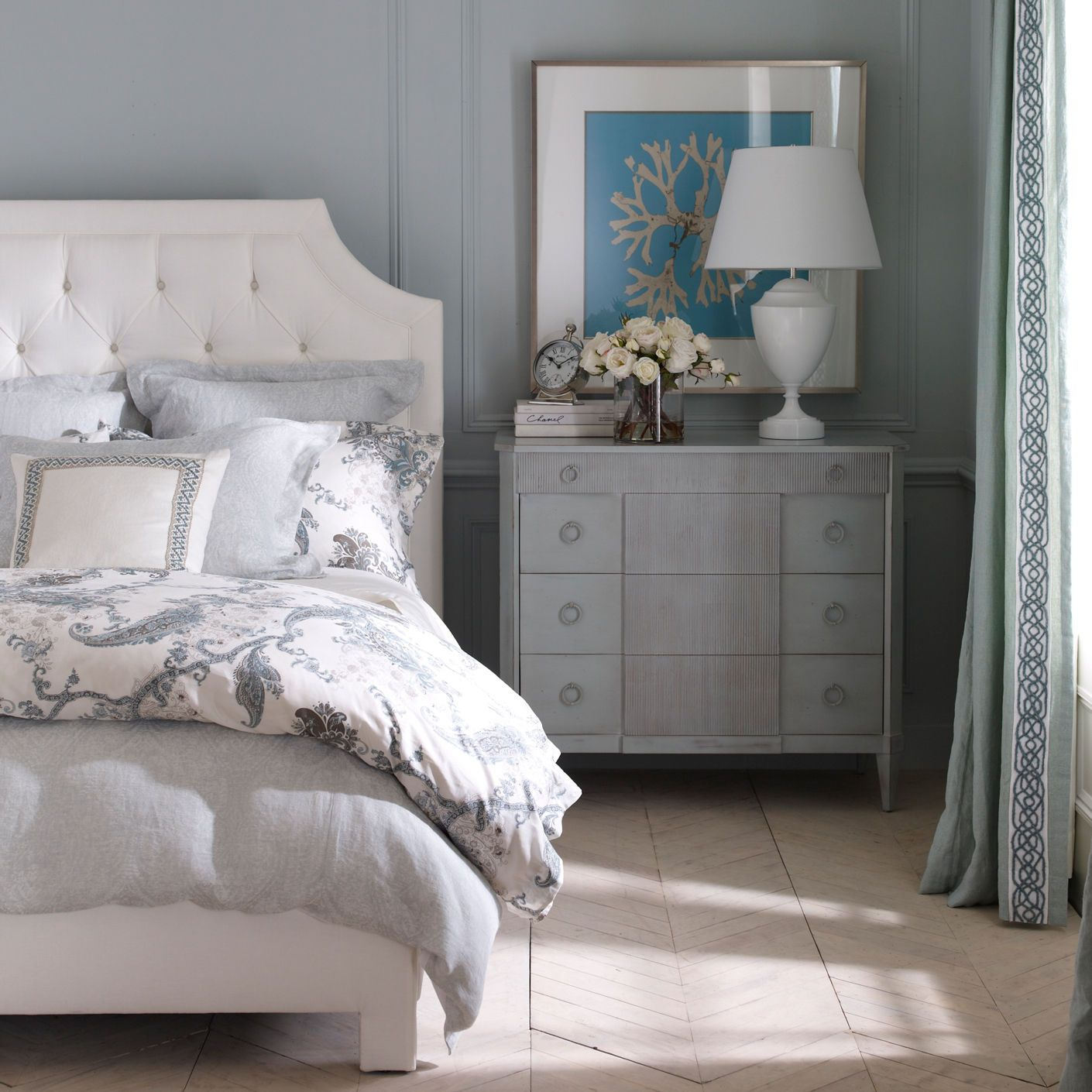 Ethan Allen Towson - Wynsome Paisley Duvet Cover - Ethan ...