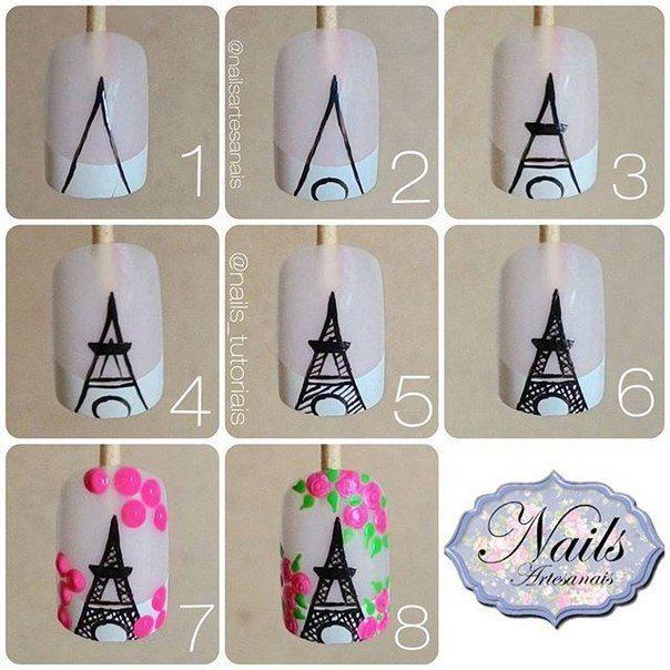 Torre Eiffel   Diseño de uñas   Pinterest   Torres eiffel, Torre y ...