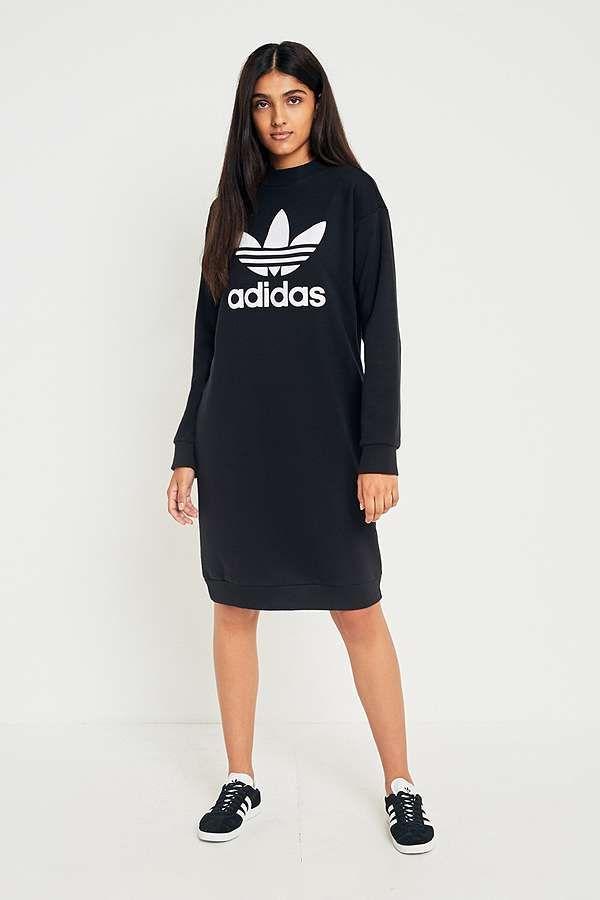 Guante Acostumbrarse a Melodrama  adidas Originals Trefoil Sweatshirt Dress | Sweatshirt dress ...