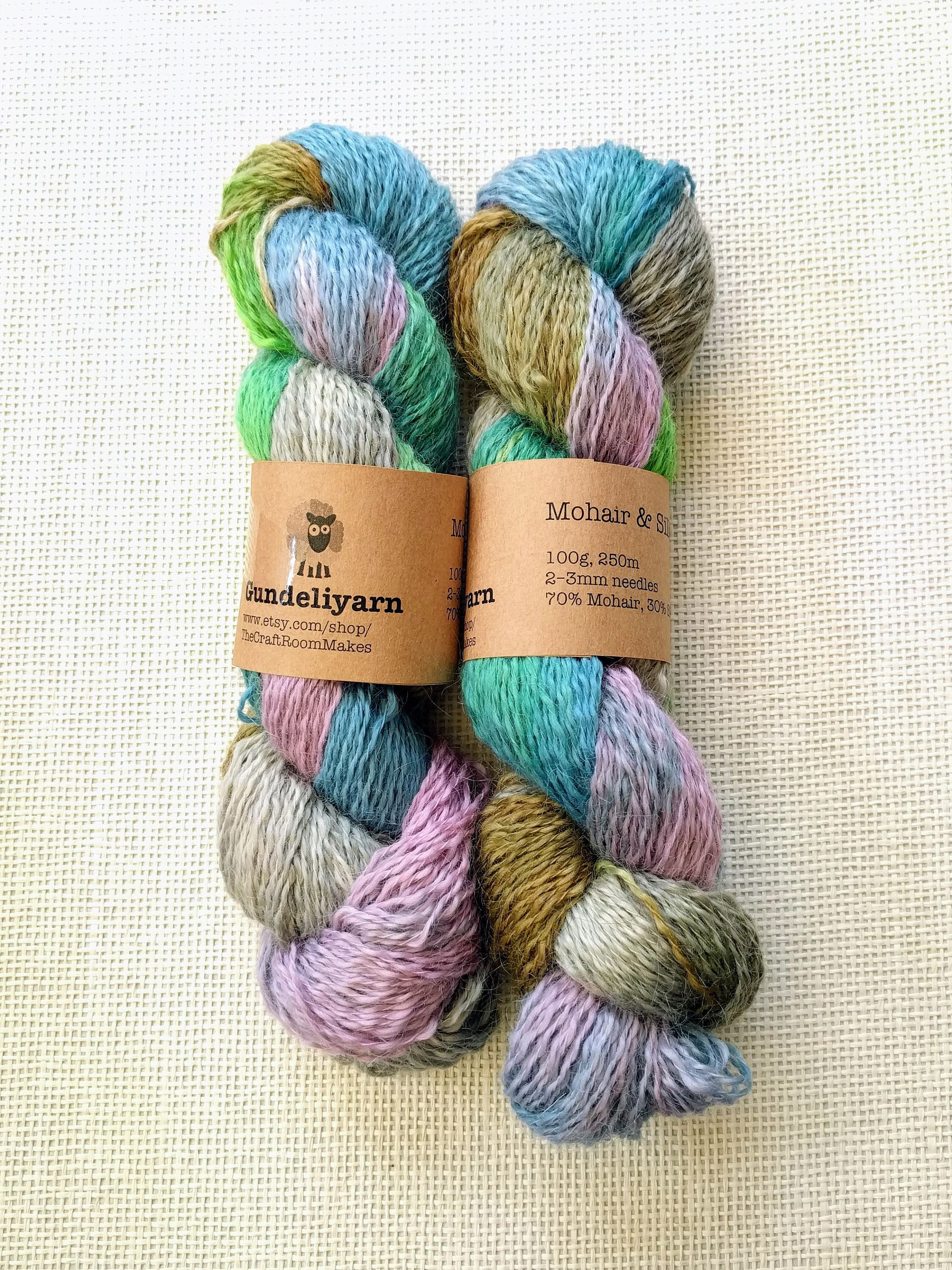 Shades of BLUE hand dyed mohair Home & Hobby Craft Supplies ...