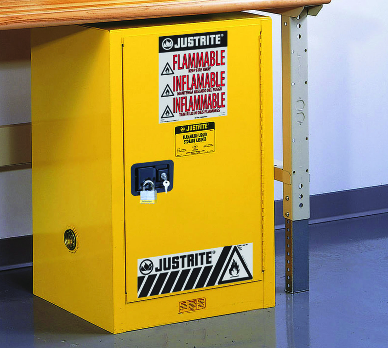 Justrite 891220 12 Gallon Safety Cabinet Compac Sure Grip Ex Self Close Storage Utility Storage Cabinet Buy Cabinets