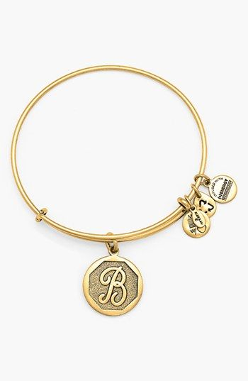Alex And Ani Initial Adjustable Wire Bangle Alex Ani