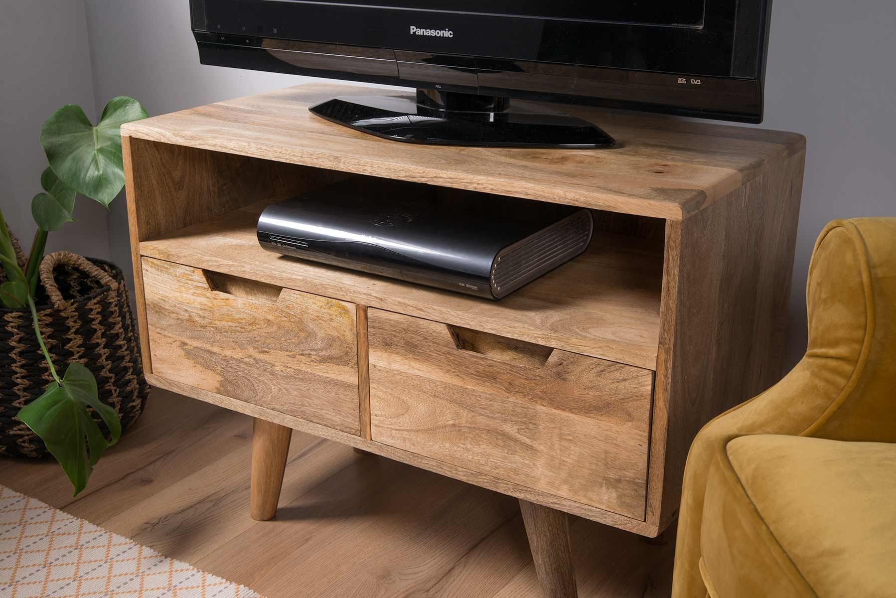 Glaze Tv Meubel.Oslo Light Mango Small Tv Unit In 2020 Small Tv Unit Tv Unit