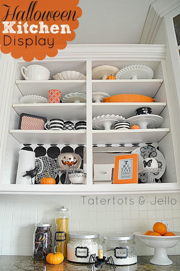 Halloween Kitchen Display – And Printables from TatertotsandJello.com