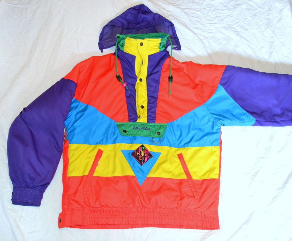 NEVICA~Vintage 90's Color Block Neon Retro Winter Pull Over Ski ...