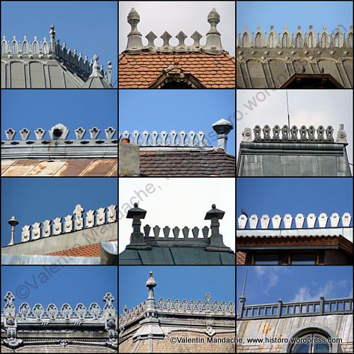 Ornamental Neo Romanian Style Roof Ridge Crests Photomontage Slide Show Roof Detail Exterior Victorian Homes