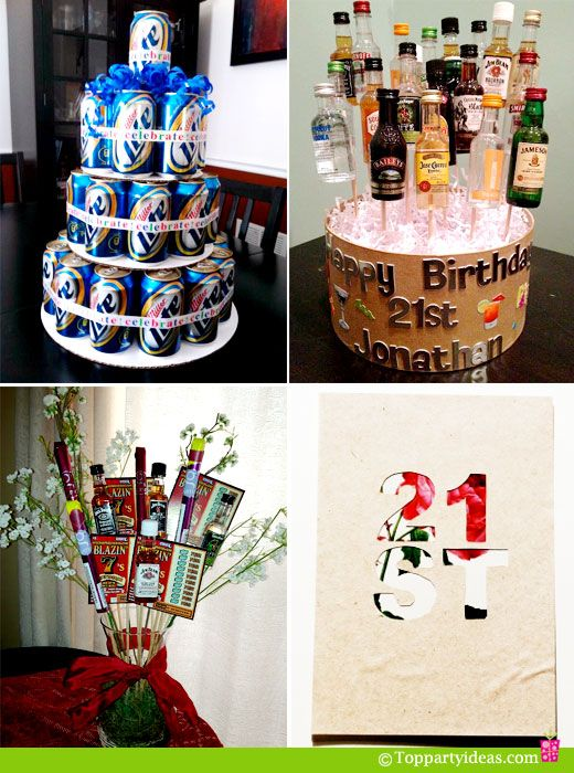Cake Ideas For A 21st Birthday Party : Birthday Decorations ... Flower Vase by Girls Gone Food ...