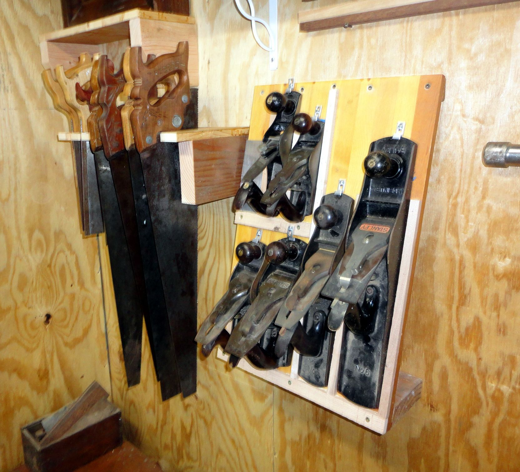Saw Till And Hand Plane Storage Simple And Excellent Shop And