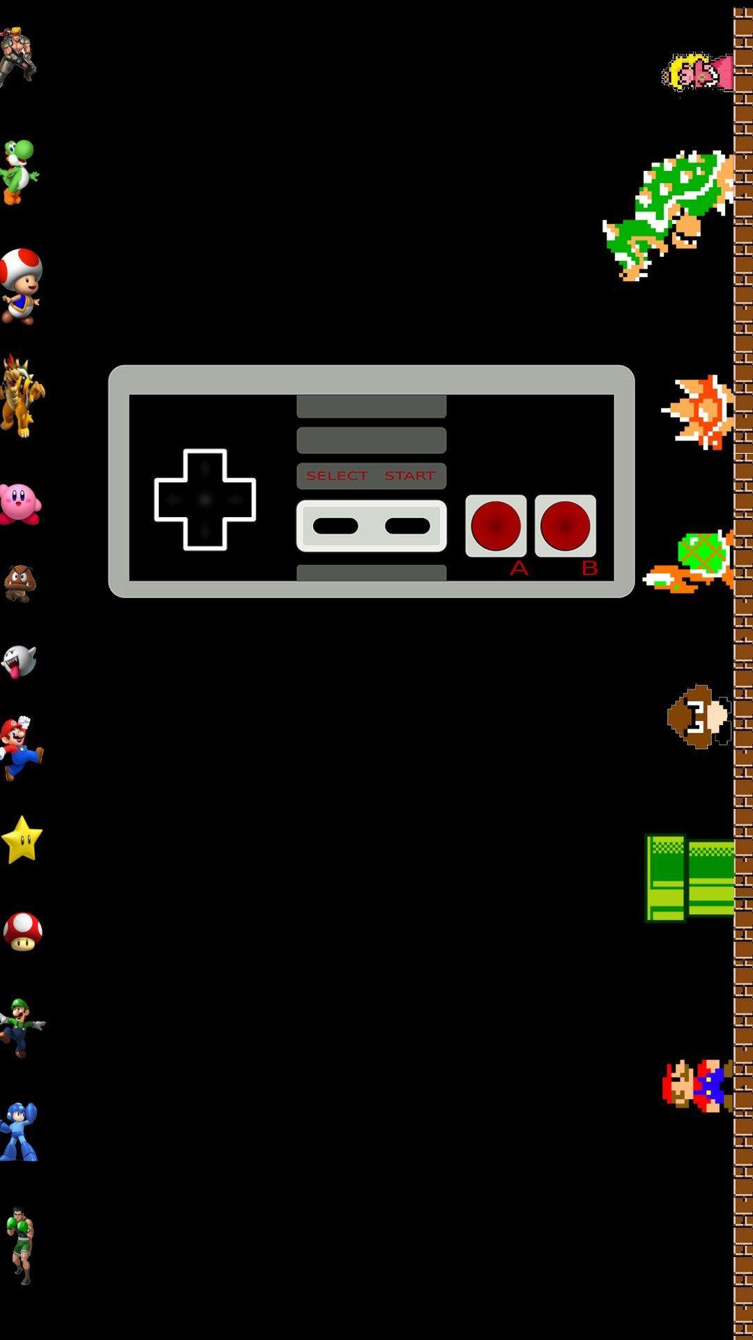 Nintendo NES Classic iPhone Wallpaper HD Protectores de