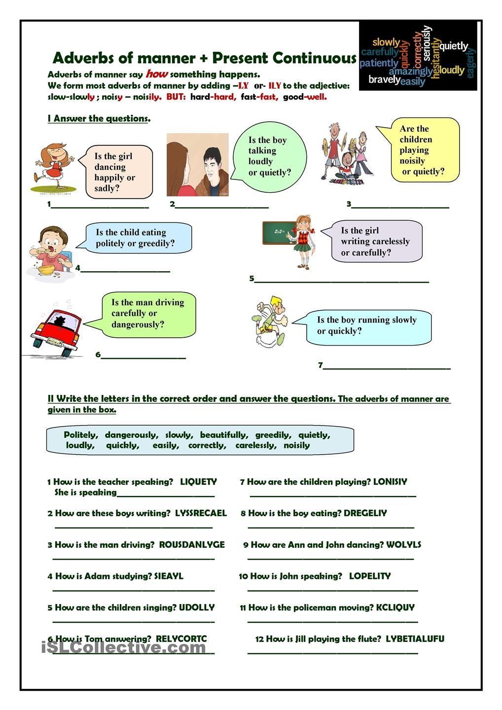 worksheet adverbs of manner pdf - Buscar con Google  household  alphabet worksheets, learning, worksheets for teachers, education, and grade worksheets Worksheets Adverbs 1440 x 1018