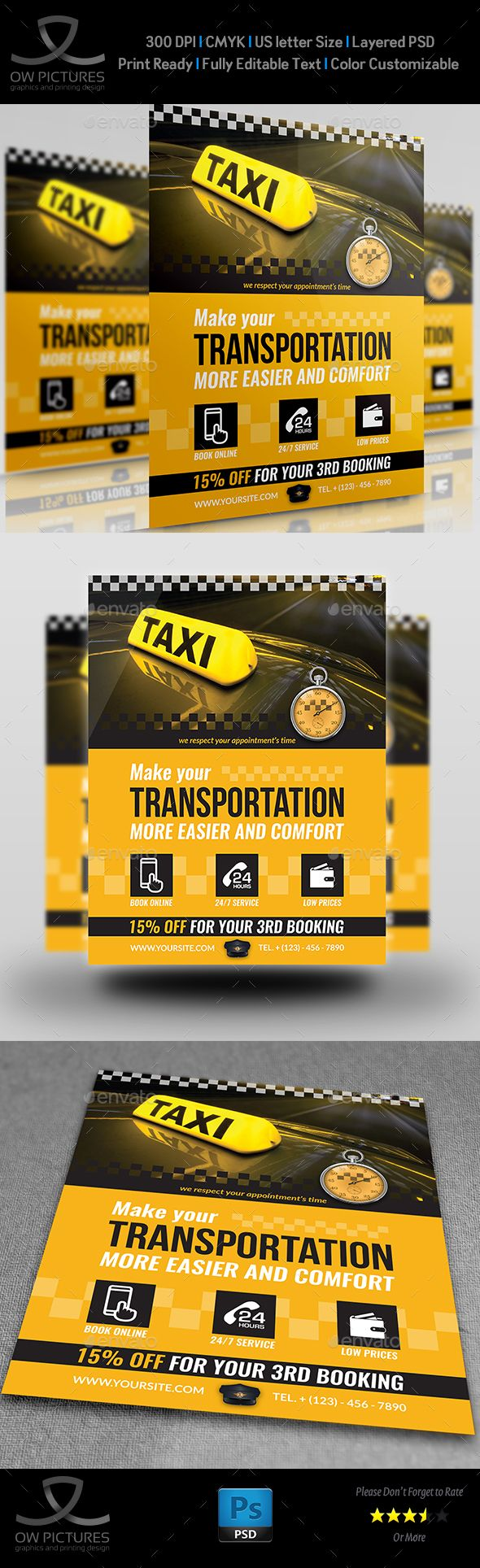 Taxi Service Flyer Template | Flyer template, Taxi and Template