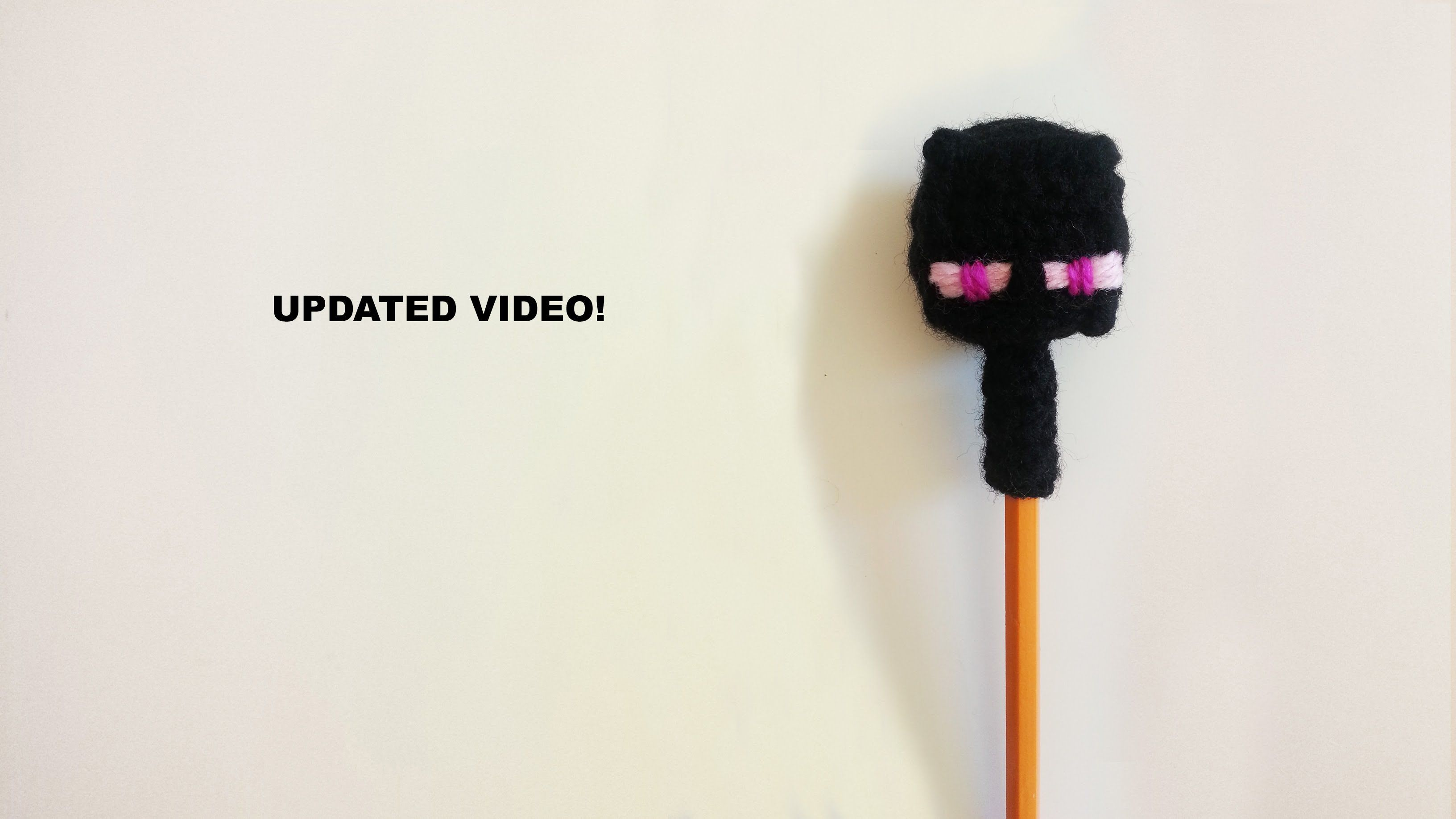 Learn how to crochet your own Enderman pencil topper, let me show ...