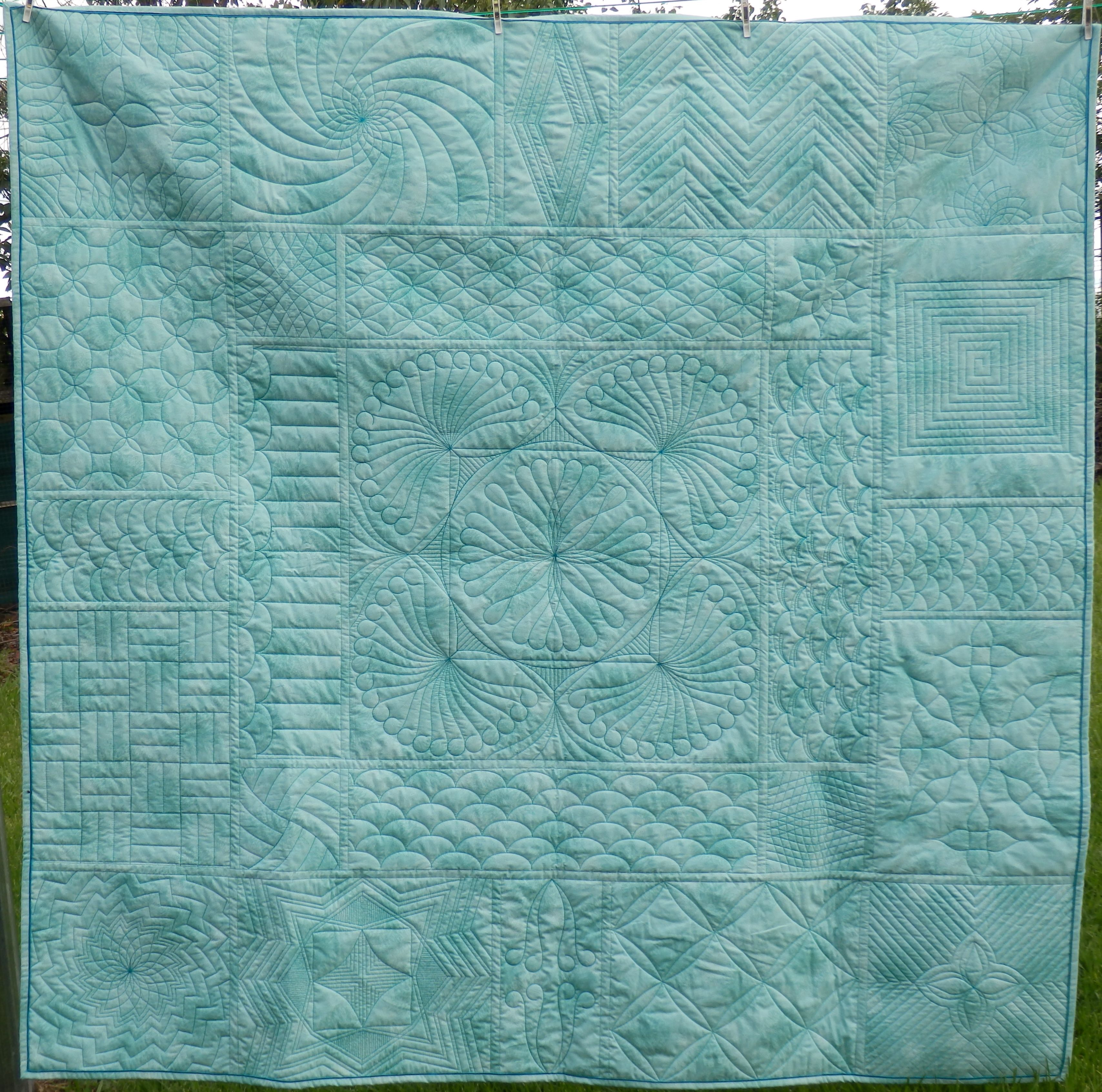 Westalee Ruler Foot Sampler Quilt From Punch With Judy On