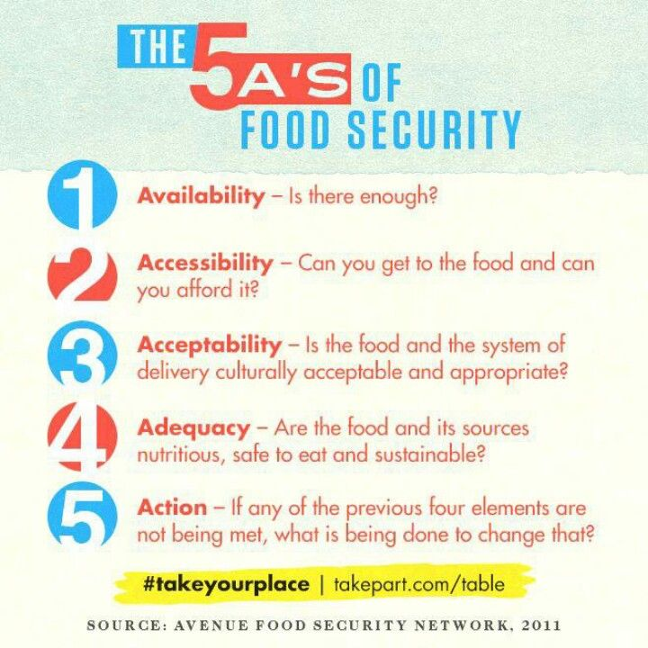 The 5 A S Of Food Security Infographic Insecurity Essay On