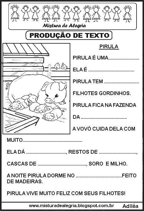 produ c3 a7 c3 a3o de texto lacunado alfabetiza c3 a7 c3 a3o