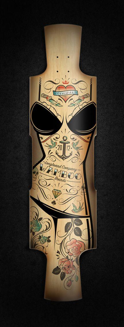 Custom longboard by Blackletter , via Behance