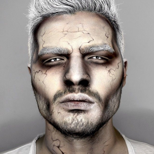 maquillage d 39 halloween pour homme fa on zombie ou homme infect tr s witcher maquillage. Black Bedroom Furniture Sets. Home Design Ideas