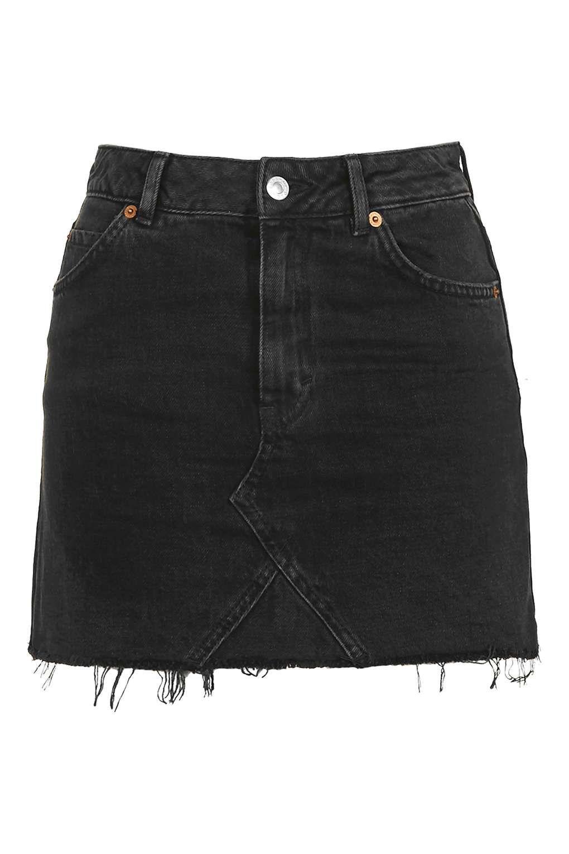 6c81df35a8 Highwaist Short Skirt | Outfitz | Black denim skirt, Denim skirt ...