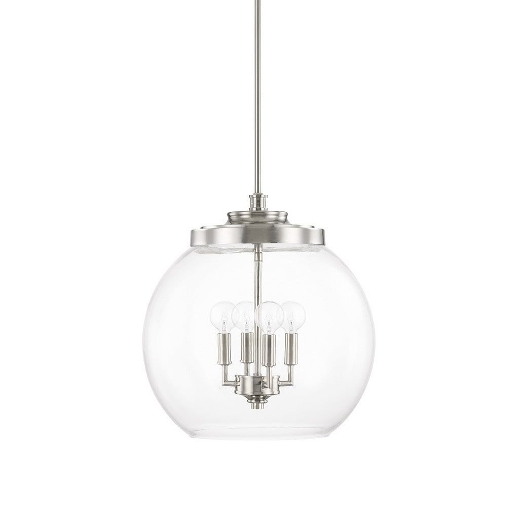 Capital Lighting Mid-Century Collection 4-light Polished Nickel ...