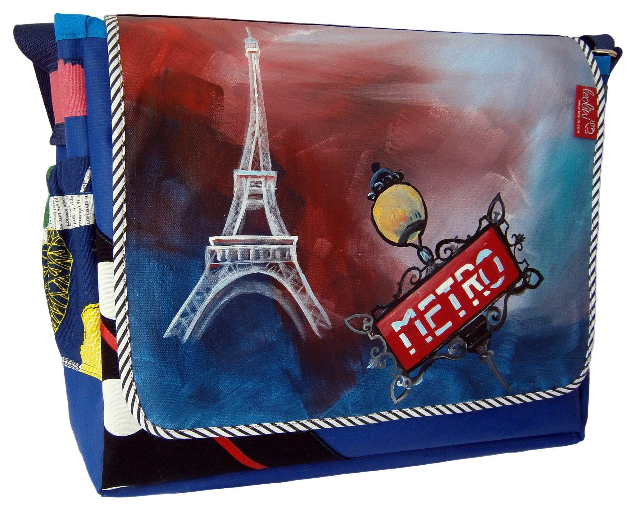 auftragsarbeit metro eiffelturm paris wir kreieren deine tasche nach deinen w nschen www. Black Bedroom Furniture Sets. Home Design Ideas
