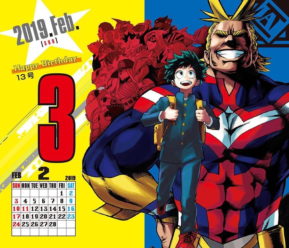 『僕のヒーローアカデミア』コミックカレンダー2019 My hero academia, Manga books