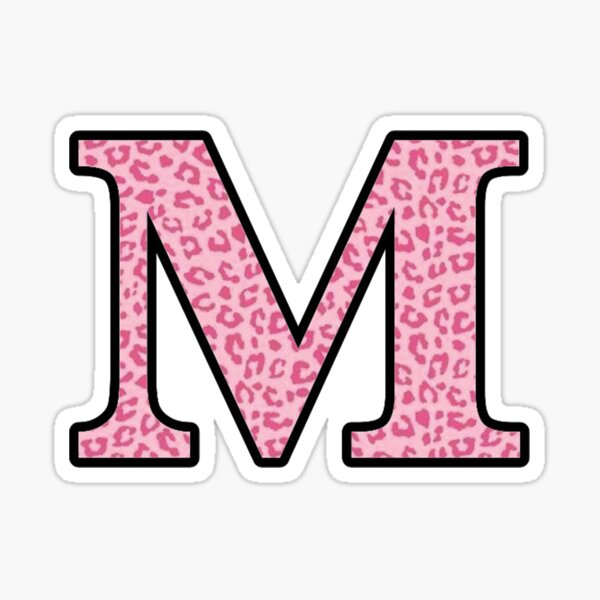 Letter M Cheetah Stickers in 2020 Pretty letters