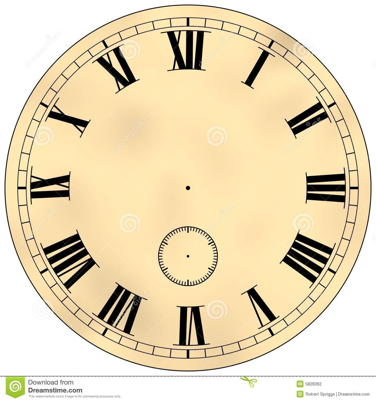 Antique Clock Face Stock Photography Image 5828362 Diy