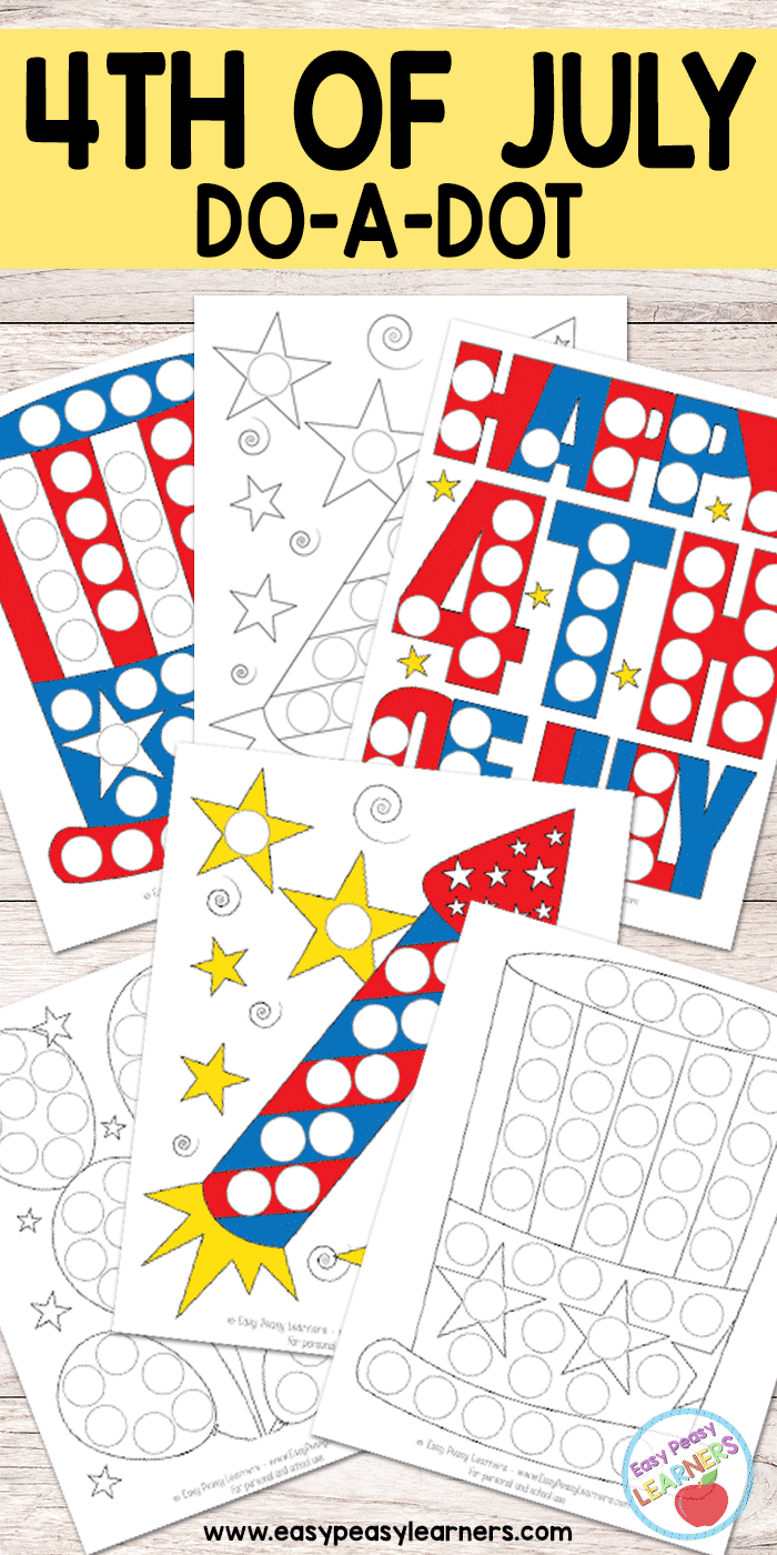 Free 4th Of July Do A Dot Printables Easy Peasy Learners Do A Dot Free Summer Activities 4th Of July [ 1400 x 700 Pixel ]