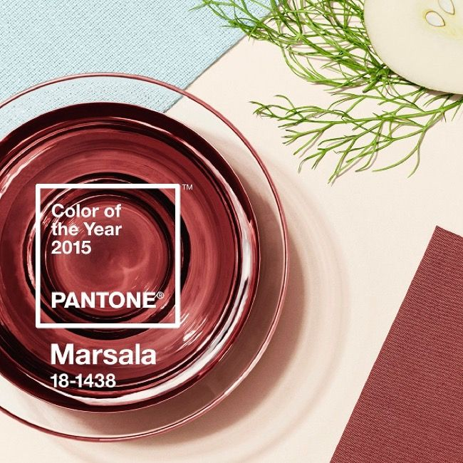 Marsala 18-1438 the New Pantone's Color of the Year 2015 l #trends #fashion #design #art