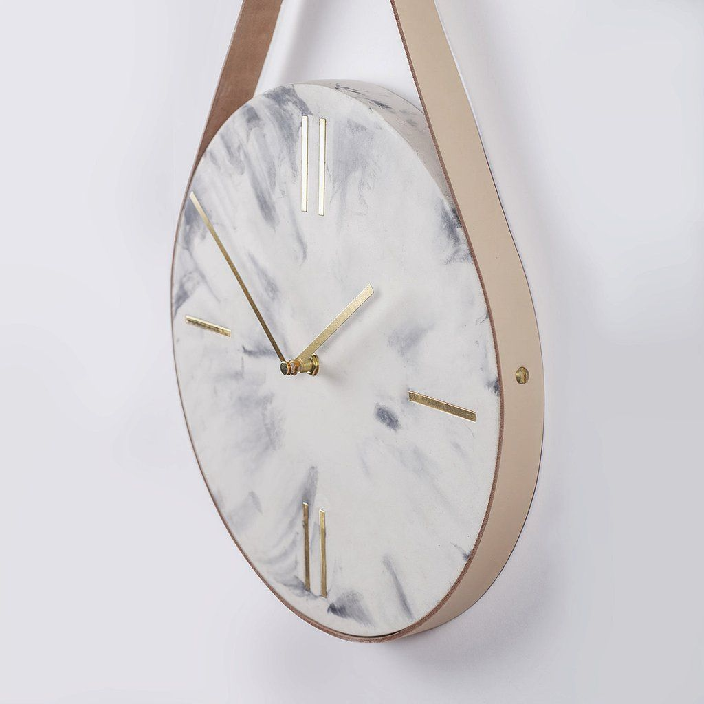 Guise White Marble Wall Clock Marble Clock Clock Marble Wall