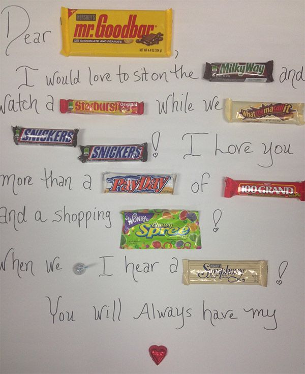 Adorable Homemade Valentine card idea Candy Bar Poem  Candy bar