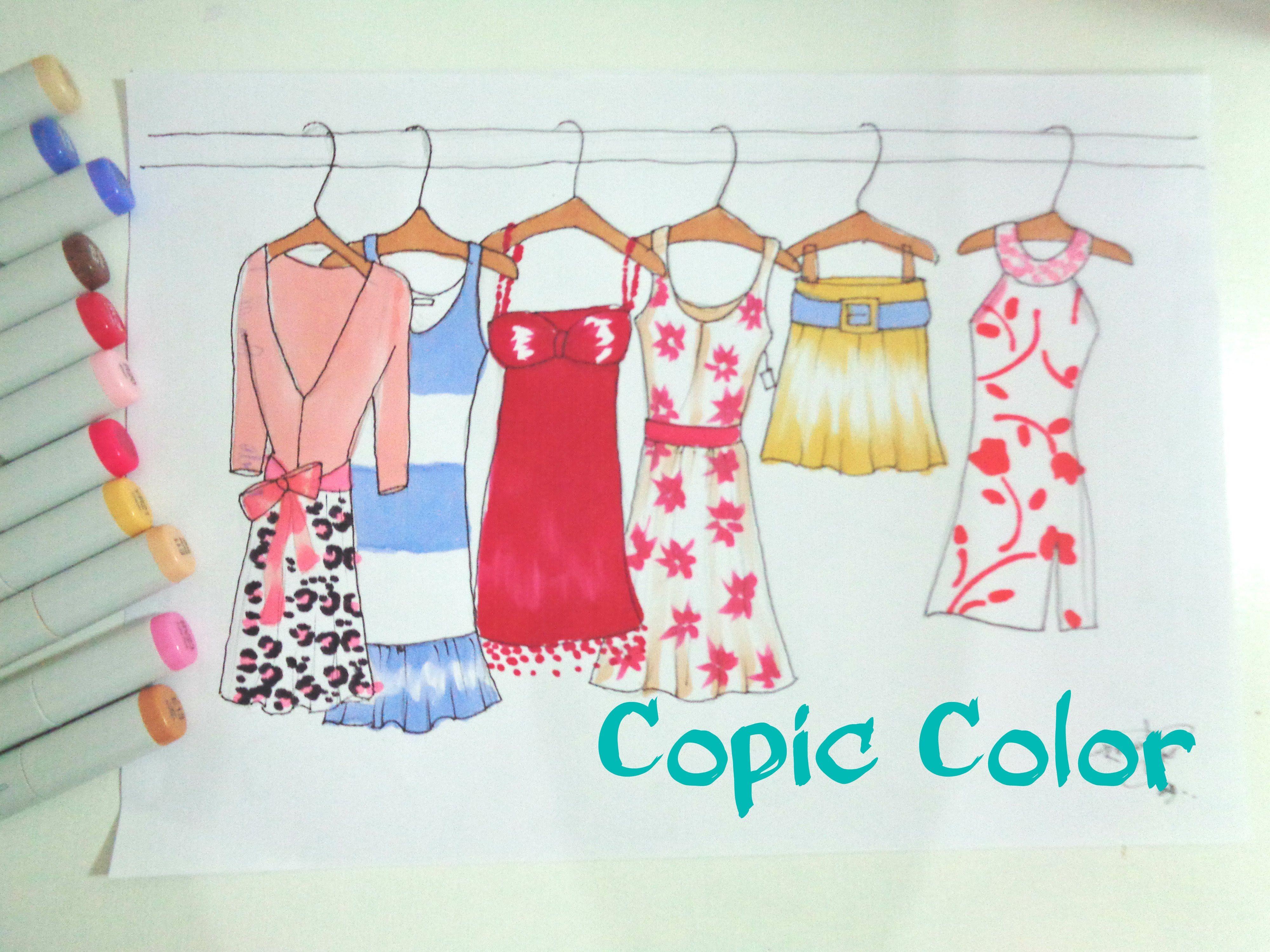❤️Colorindo com Copic! (Ilustração de Moda)
