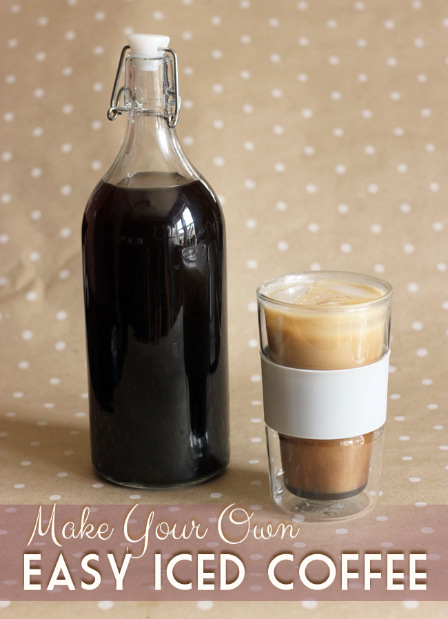 How To Make Iced Coffee At Home Without A Coffee Maker Frugal Beautiful Iced Coffee At Home How To Make Ice Coffee Iced Coffee Drinks
