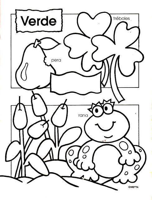 Articulo Sobre Dibujos Para Colorear Con Los Colores Escritos Contenido En Colorear Y Aprender Preschool Colors Preschool Spanish Spanish Lessons For Kids