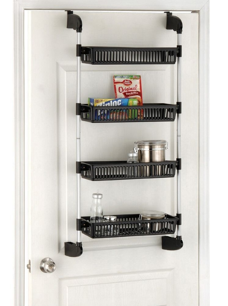 Charming Kitchen Organizer Rack Part - 5: Pantry Kitchen Organizer Storage Rack Over Door Shelf Cabinet 4 Tier Basket  New