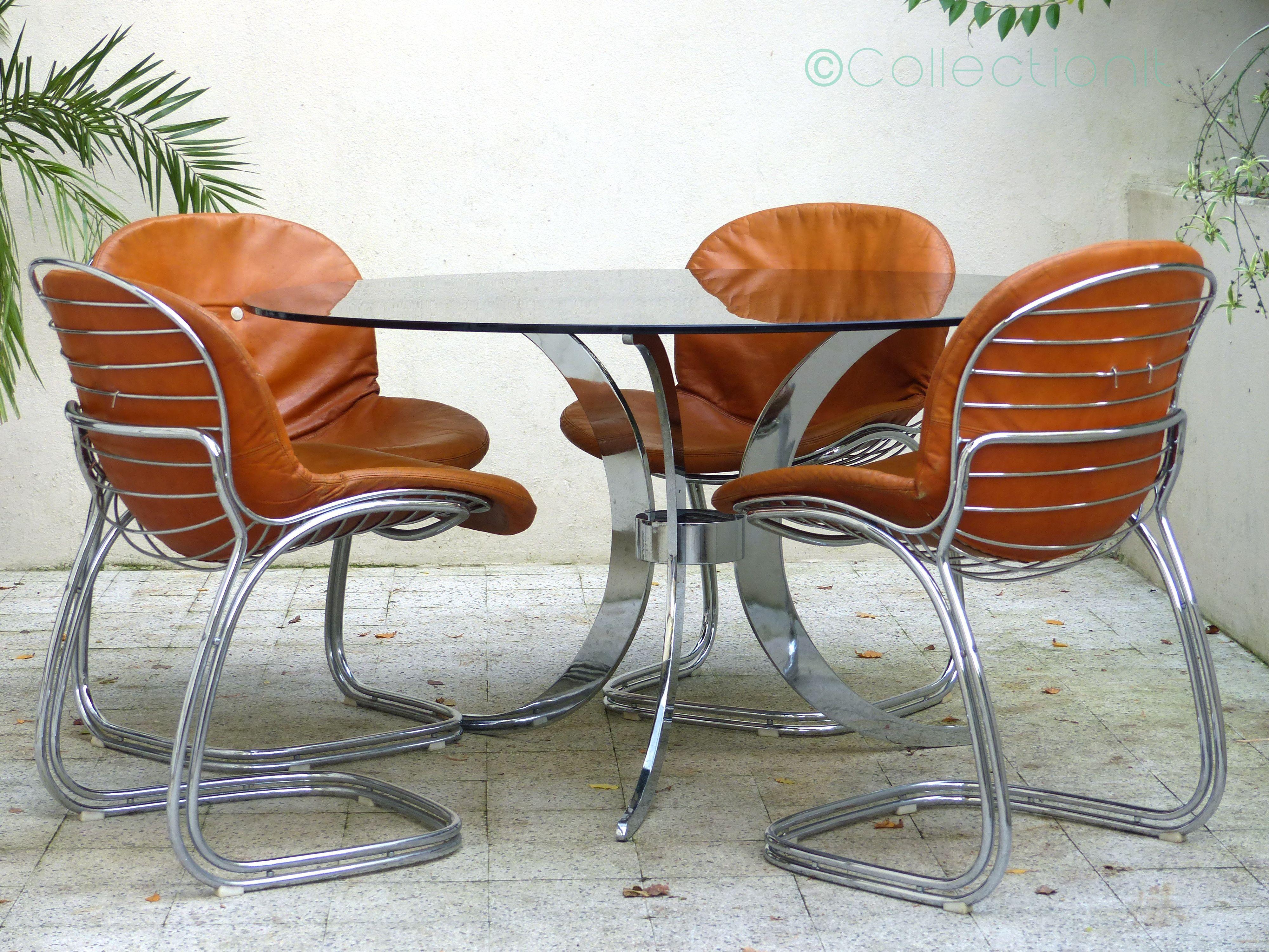 Table Et Chaises Design Italien Gastone Rinaldi Vintage Product Page Light Fixtures
