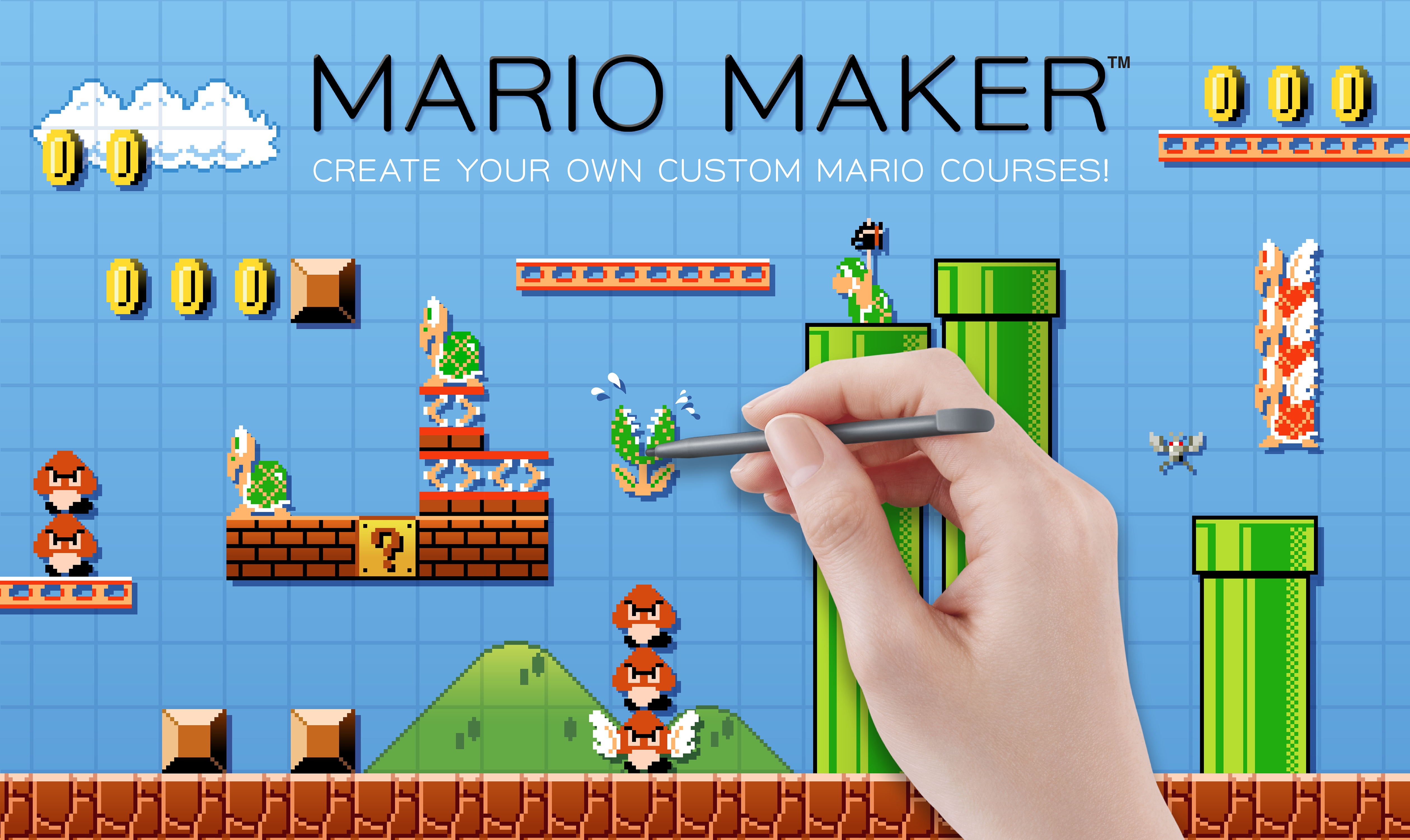 Create and share you Super Mario Brothers levels in Mario Maker