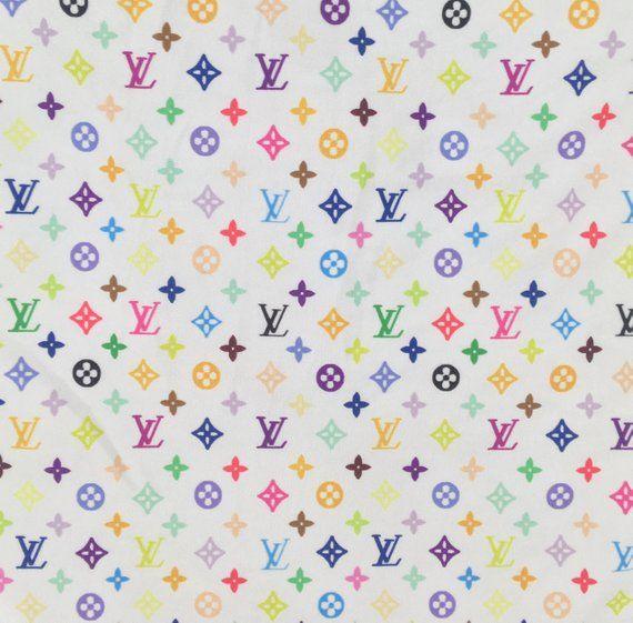 a2eaef8485a LV Designer Inspired Fabric By the Yard or Half Yard Designer